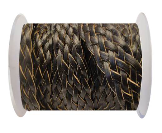 Flat Braided Cords-Style-4-18mm- Coffee