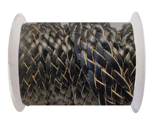 Flat Braided Cords-Style-4-18mm- Dark Blue