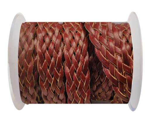 Flat Braided Cords-Style-4-18mm- Maroon