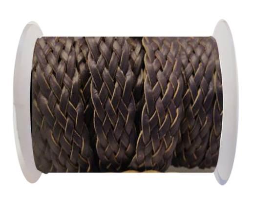 Flat Braided Cords-Style-4-18mm- Purple