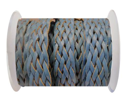 Flat Braided Cords-Style-4-18mm- Turquoise