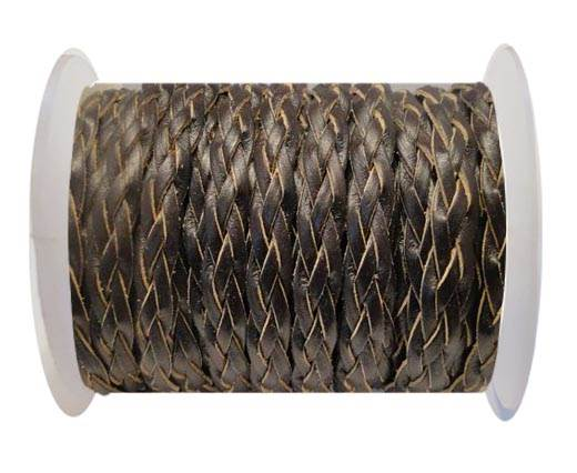 Flat Braided Cords-Style-3-10mm- Coffee
