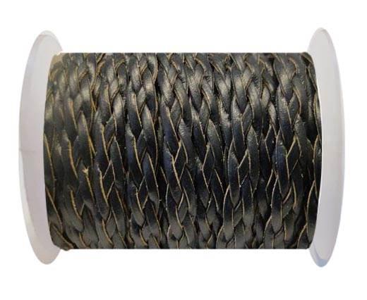 Flat Braided Cords-Style-3-10mm- Dark Blue