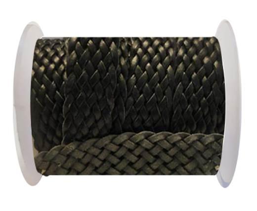 Flat Braided Cords-Style-5-25mm- Black