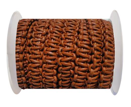 Flat Braided Cords-10MM- Stair Case Style-Burnt Siena