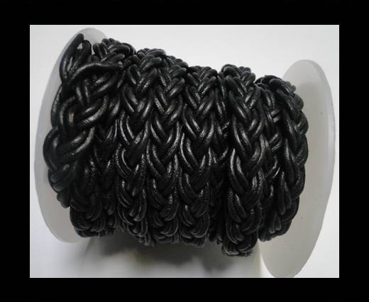 Buy Flat Braided Cords-10MM- Twist Style- Black at wholesale prices