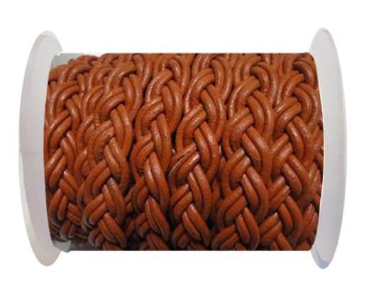 Flat Braided Cords-10MM- Twist Style- Burnt Siena