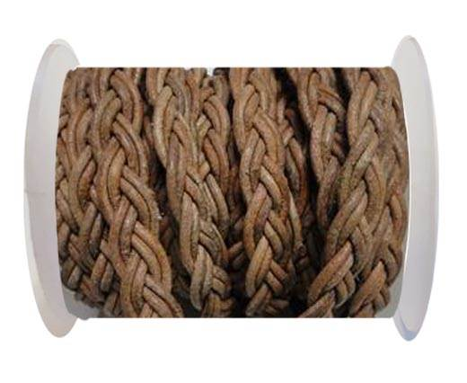 Flat Braided Cords-10MM- Twist Style-Natural