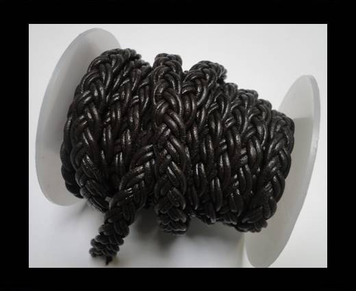 Buy Flat Braided Cords-10MM- Twist Style-Dark Brown at wholesale prices