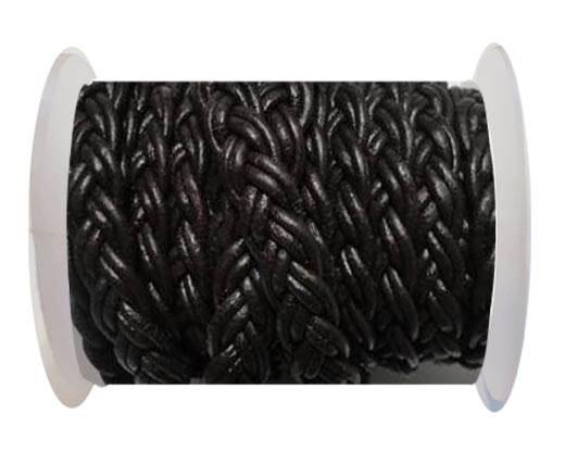 Flat Braided Cords-10MM- Twist Style-Dark Brown