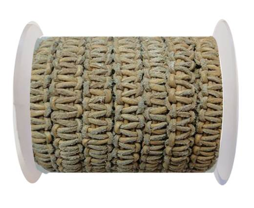 Flat Braided Cords-10MM- Stair Case Style-Dark Natural