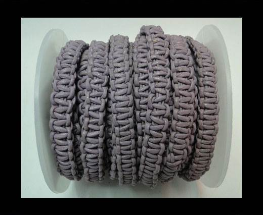 Flat Braided Cords-10MM- Stair Case Style-Levender