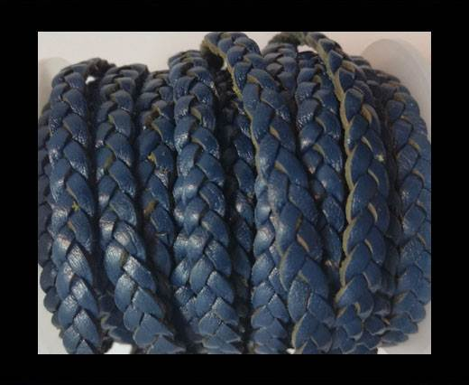 Choti-Flat 3-ply Braided Leather --5MM- SE DARK VINTAGE BLUE