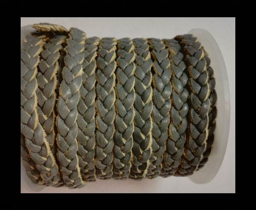 Choti-Flat 3-ply Braided Leather --5MM-SE LIGHT GREY