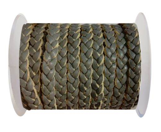 Choti-Flat 3-ply Braided Leather --5MM-SE LIGHT GREY