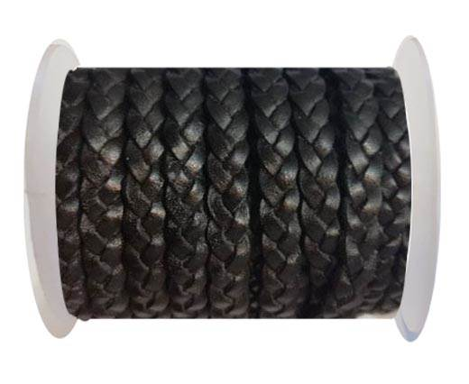 Choti-Flat 3-ply Braided Leather --5MM-SE VINTAGE BROWN