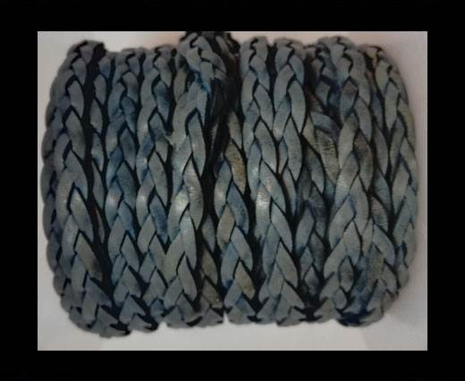 Choti-Flat 3-ply Braided Leather --5MM-Blue
