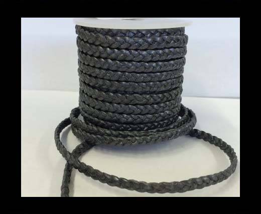 Choti-Flat braided leather 3 ply 5mm - SE-FPB-30