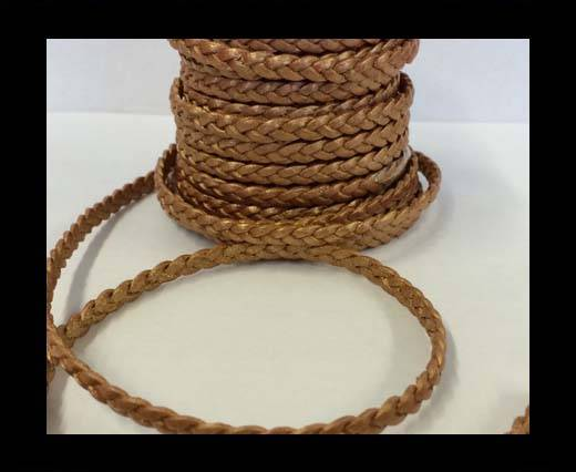 Choti-Flat braided leather 3 ply 5mm - SE-FPB-38