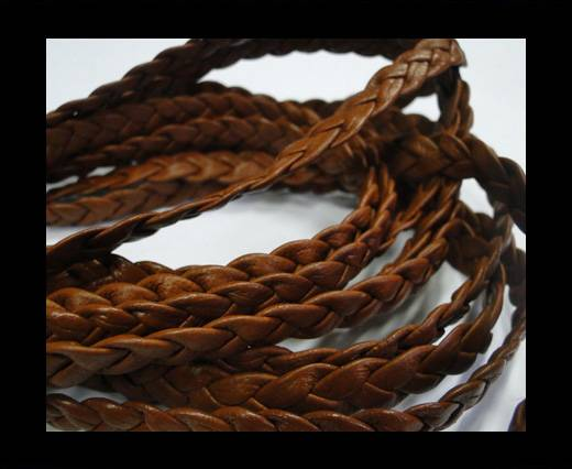 Flat Braided Nappa Cords 10mmTERRACOTTE