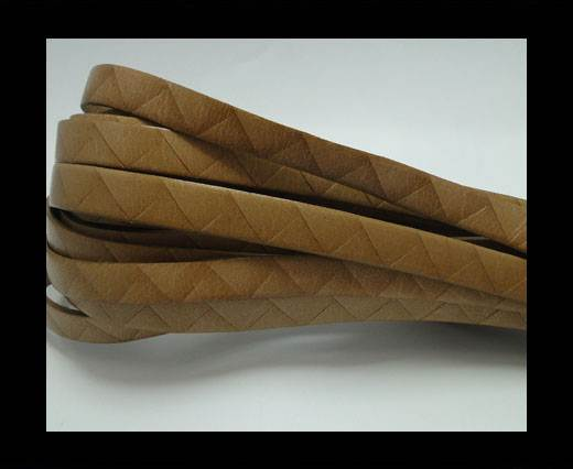 Buy Flat Italian Leather- Stripes -10mm- Beige at wholesale prices