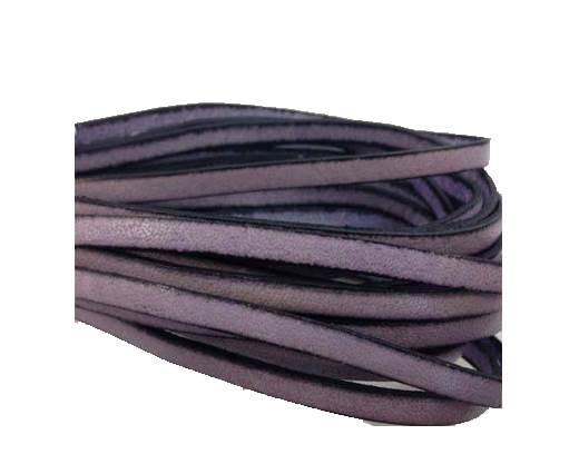Flat Leather 5mm - italian style-light purple