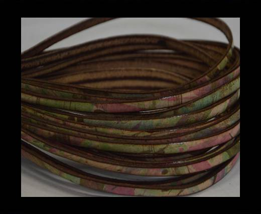 Flat Leather Italian - 5mm - Multi color 1