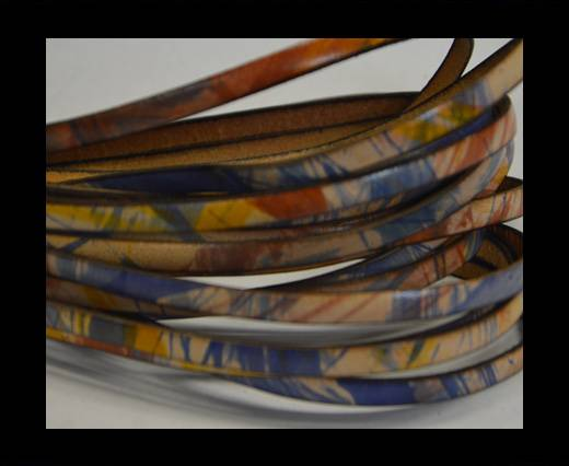 Flat Leather Italian - 5mm - Multi color 2