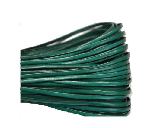 Flat leather Italian - 3 mm - Turquoise