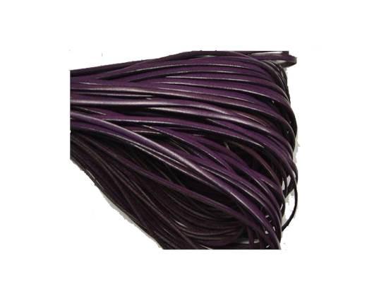 Flat leather - 3 mm - Violet