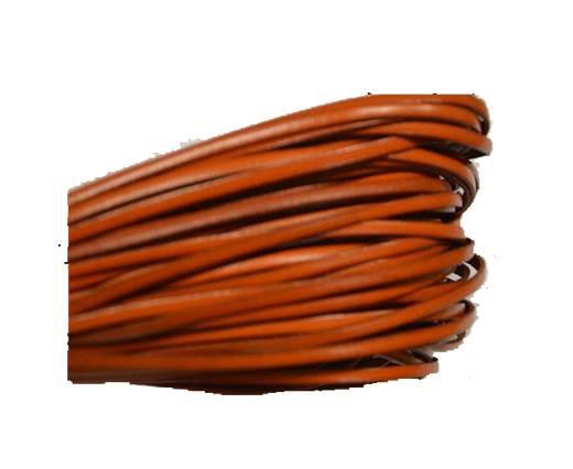 Flat leather Italian - 3 mm - Orange