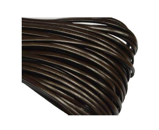 Flat leather Italian - 3 mm - Brown