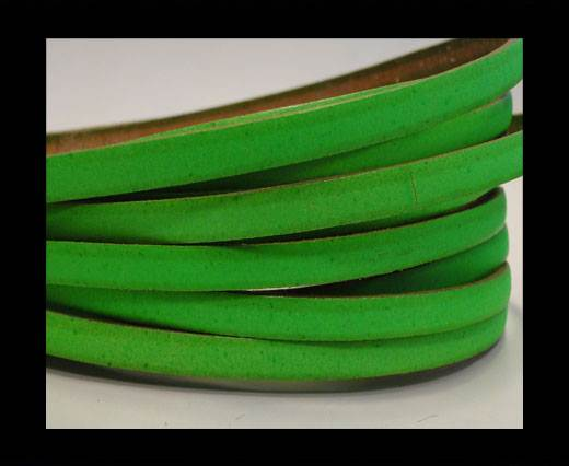 Flat leather Italian - 5 mm -neon green