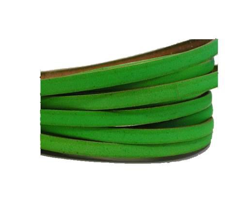 Flat leather Italian - 5 mm -neon green
