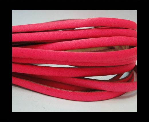Flat leather Italian - 5 mm -neon pink