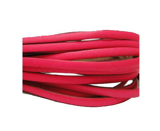 Flat leather Italian - 5 mm -neon pink