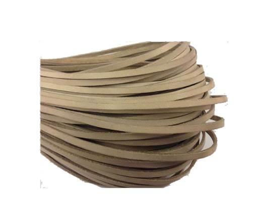 Flat leather Italian  - 4 mm - beige