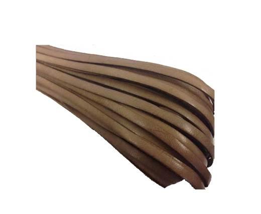 Flat leather Italian  - 4 mm - dark natural