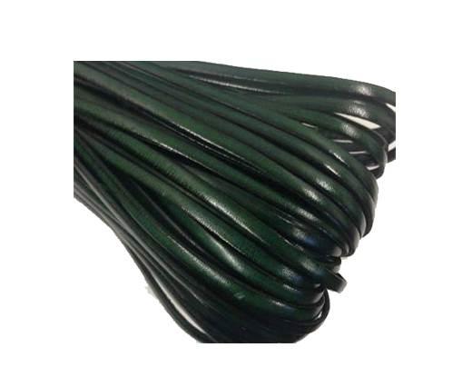 Flat leather Italian  - 4 mm - fern green