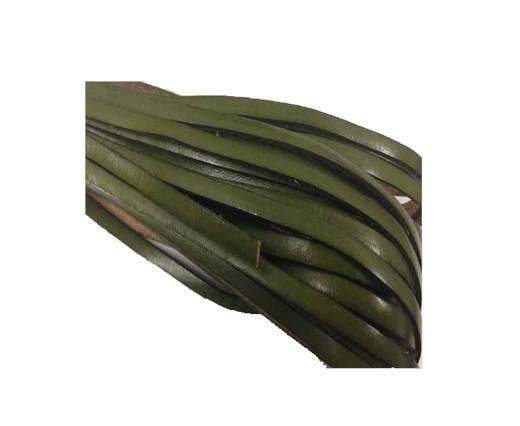 Flat leather Italian  - 4 mm - green