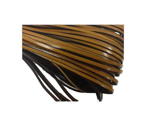 Flat leather Italian  - 4 mm - camel