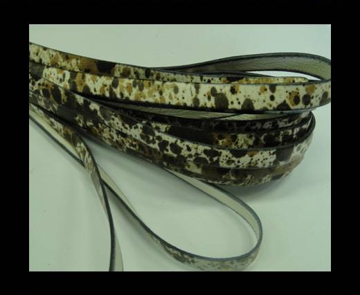 Buy Flat Leather Cord-10mm-Spray Print 3 at wholesale prices