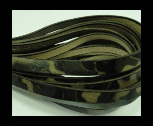 Buy Flat Leather Cord 10mm-Camouflage Print at wholesale prices