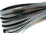 Flat Leather Cords - Chess Style - 5mm-Silver