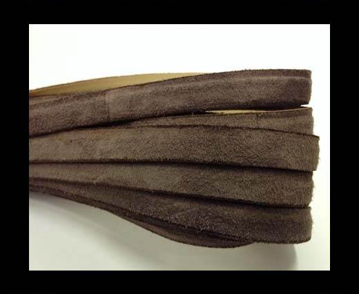Buy Flat Leather Cord Suede -10mm- Brown1 at wholesale prices