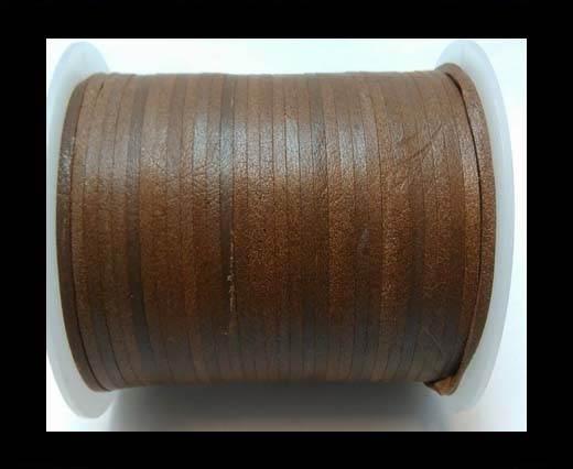 Flat Leather Cords - Cow -width 4mm-27402 - Antique Brown