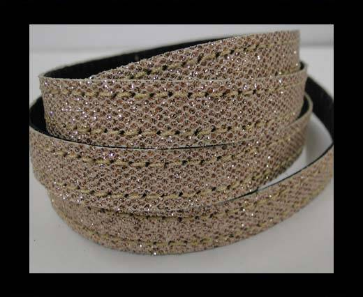 Buy Flat Nappa Glitter  Stitch Cord 10mm - SE-FNG-15 at wholesale prices