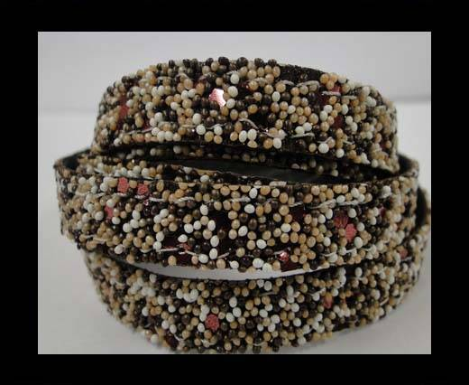 Buy Flat Nappa Glitter  Style Cord - 5mm - SE-FNG-04 at wholesale prices