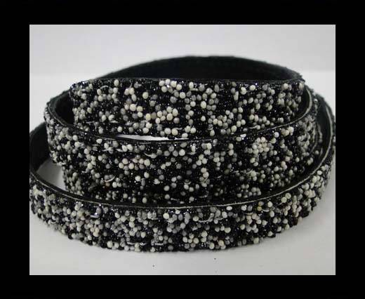 Buy Flat Nappa Glitter  Style Cord  - 10mm - SE-FNG-02 at wholesale prices