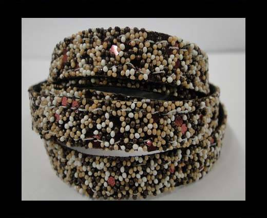 Buy Flat Nappa Glitter  Style Cord  - 10mm - SE-FNG-04 at wholesale prices